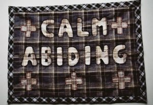 Calm Abiding. Textile panel. 570 x 420mm. 2012.