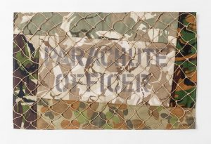 Parachute Officer, The Parachute Files. Textile panel. 620 x 420mm. 2015.